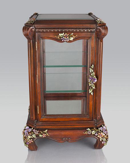 Floral & Vine Curio Cabinet