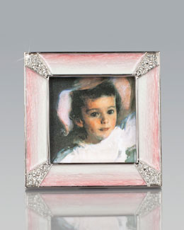 Jay Strongwater Leland Pink Pave Corner Square Frame