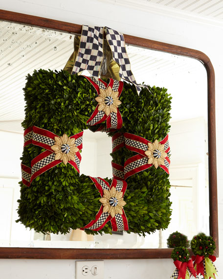 MacKenzie-Childs Square Boxwood Wreath