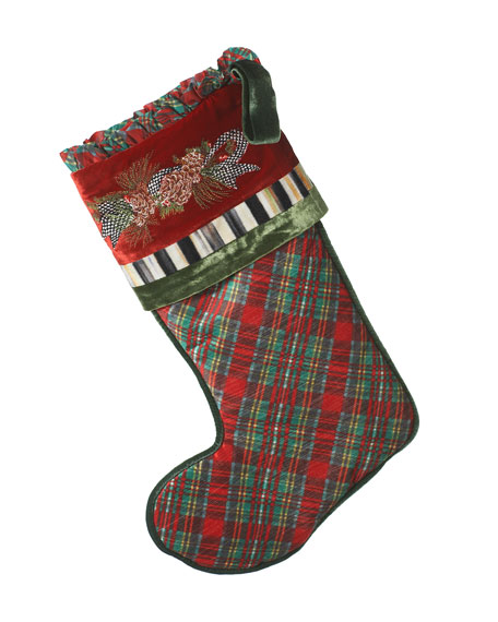 Holiday Tartan Christmas Stocking