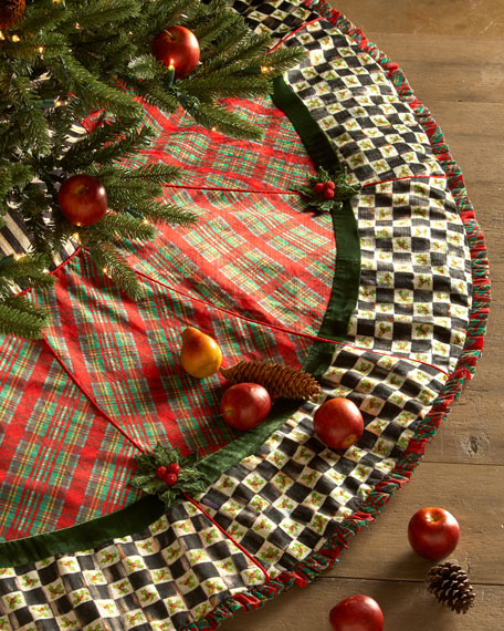 Holiday Tartan Christmas Tree Skirt