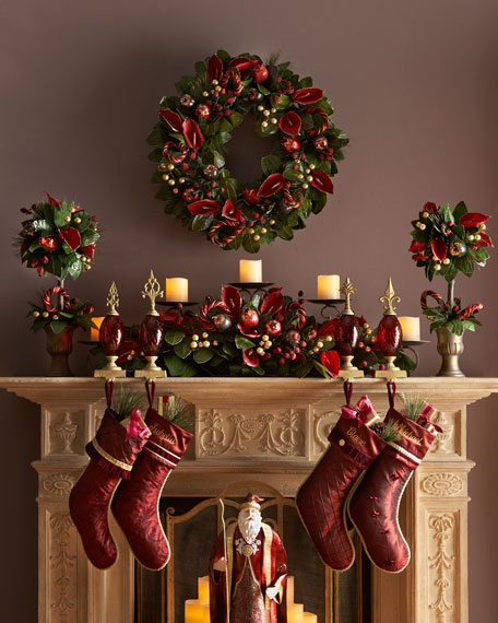 "Rich Wine Christmas Wreath, 28""Dia."