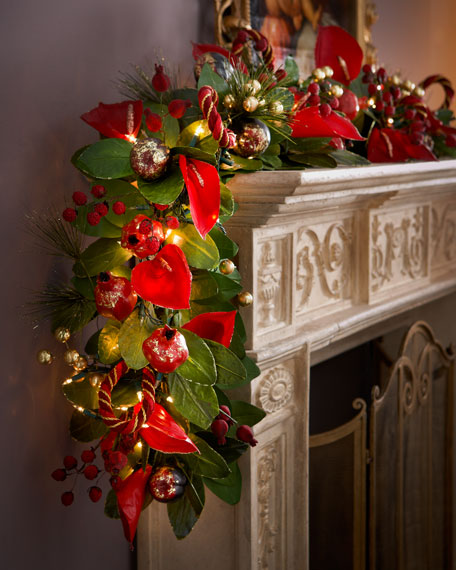 6' Rich Wine-Colored Garland