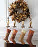 """Chocolate and Gold Christmas Wreath, 28""""Dia."""