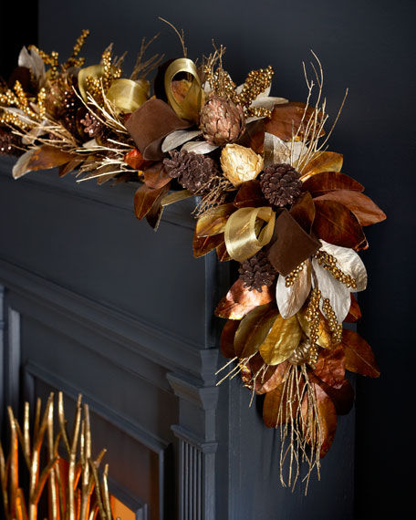 6' Chocolate, Copper, & Gold Garland