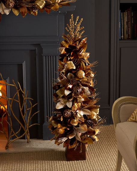 """50"""" Chocolate, Copper, and Gold Tree"""