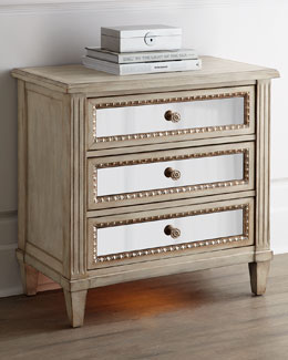 Melinda Three-Drawer Nightstand