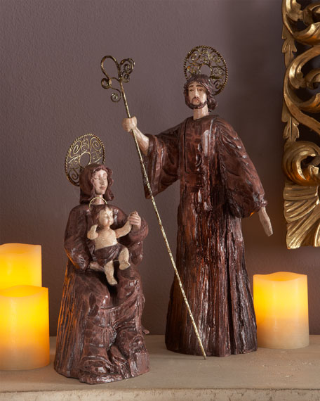 Two-Piece Rustic Holy Family