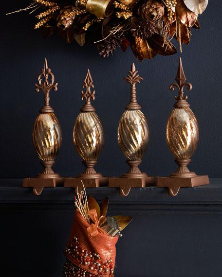 Gold-Tone Finial Stocking Hook