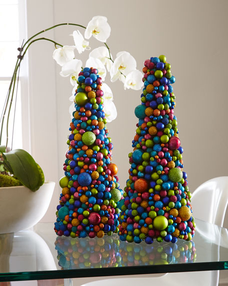 "19"" Multicolored Ball Tree"