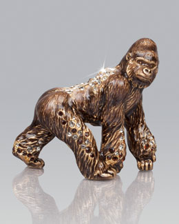 Jay Strongwater Howard Gorilla Mini Figurine