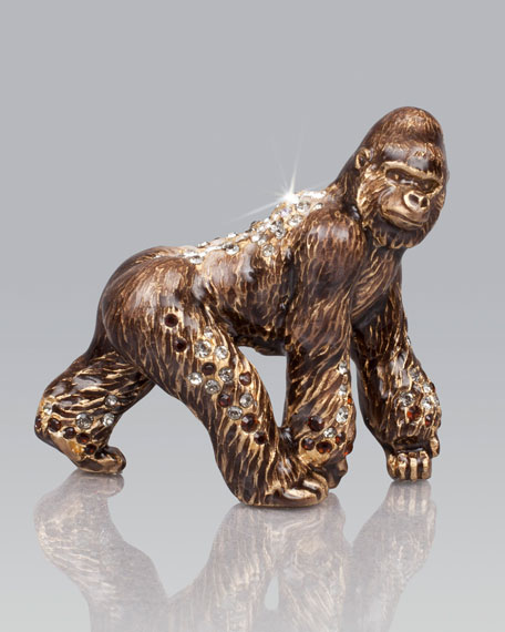 Jay strongwater howard gorilla mini figurine - Gorilla figurines ...