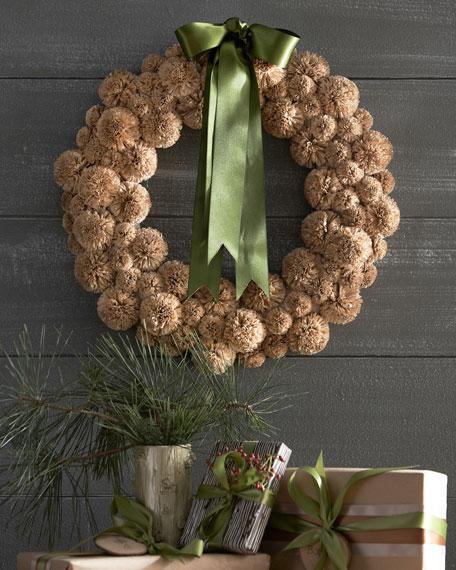 Nito-Vine Balls Christmas Wreath