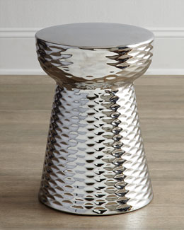 Chrome-Finish Garden Stool
