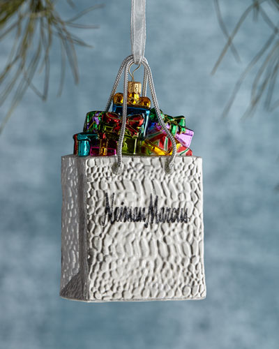 Neiman marcus shopping bag ornament for Neiman marcus christmas cards