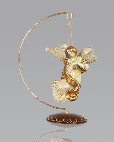 Angel Glass Christmas Ornament