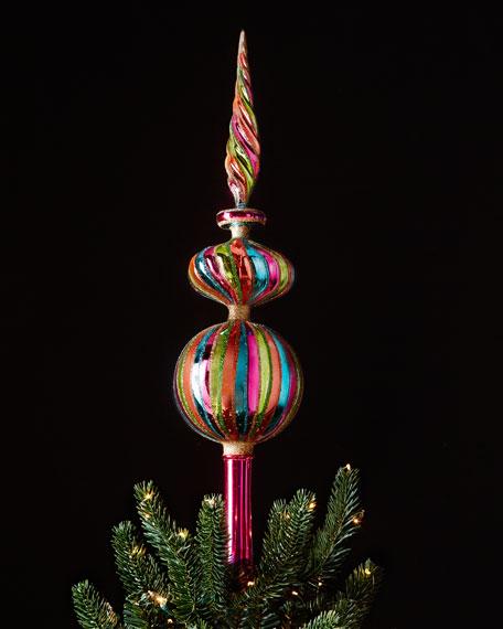 Multi-Striped Christmas Tree Topper