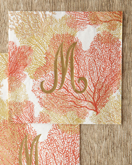 100 Coral Sea Fans Cocktail Napkins