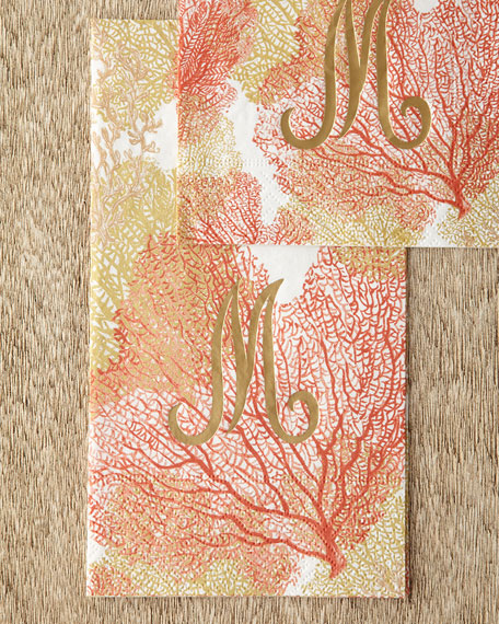100 Coral Sea Fans Guest Towels