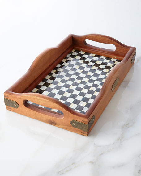 MacKenzie-Childs Small Courtly Check Hostess Tray