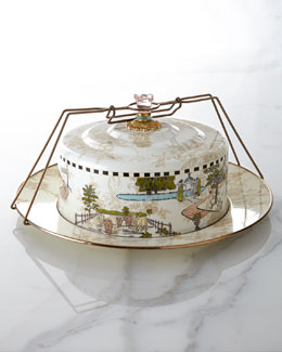 MacKenzie-Childs Aurora Cake Carrier