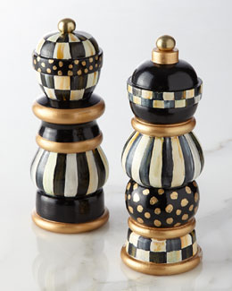 MacKenzie-Childs Courtly Check Salt & Pepper Mill Set