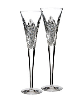 Waterford Crystal Two Times Square Flutes