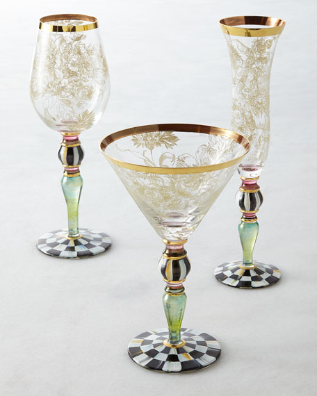 MacKenzie-Childs Blooming Martini Glass