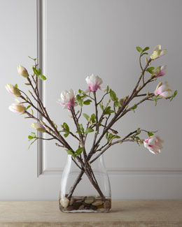 John-Richard Collection Japanese Magnolia Faux Floral Arrangement