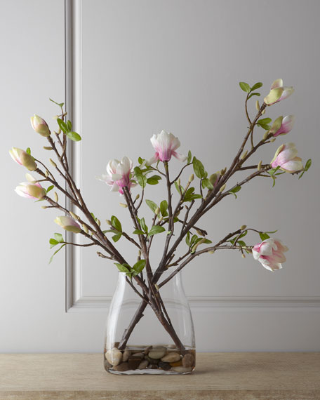 John richard collection japanese magnolia faux floral