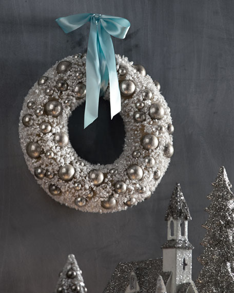 Ivory Bauble Wreath