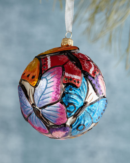 Butterfly Ball Christmas Ornament