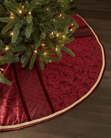 Plumage Ruby Christmas Tree Skirt