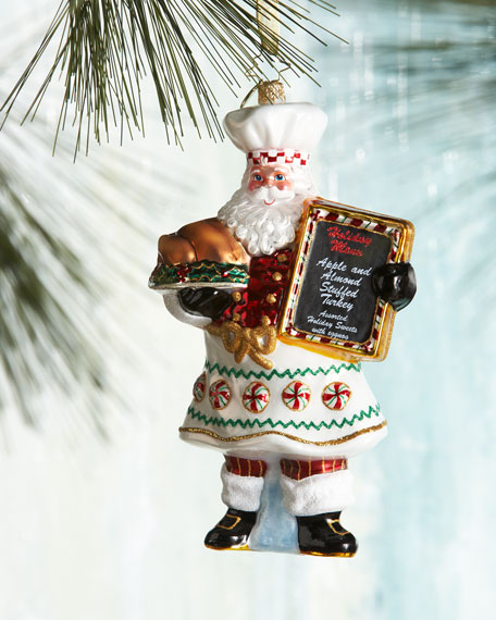 Cooking Claus Christmas Ornament