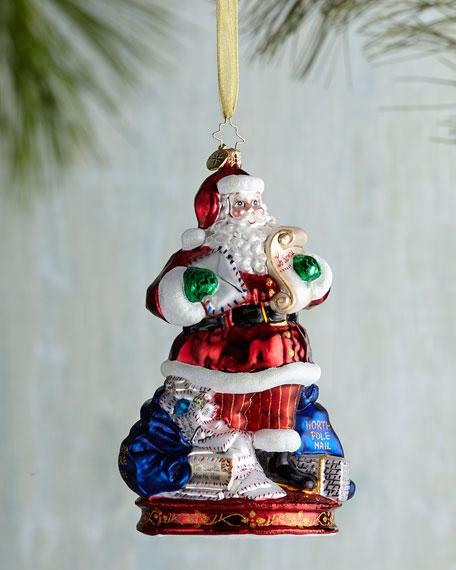 Mail Call Santa Christmas Ornament