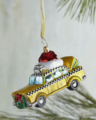 Christopher Radko Christmas in the City New York Cab Christmas Ornament