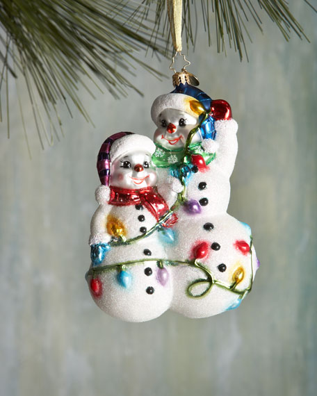 Snowmen Glowmen Christmas Ornament