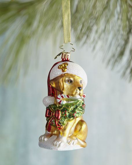 Labrador Lucky Christmas Ornament