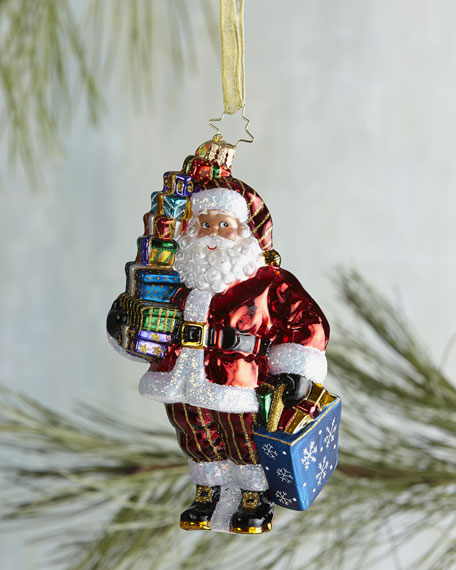Let's Go Shopping Santa Christmas Ornament