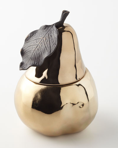 Michael Aram Pear Sculpted Filled Candle