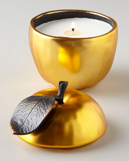 Michael Aram Apple Sculpted Filled Candle