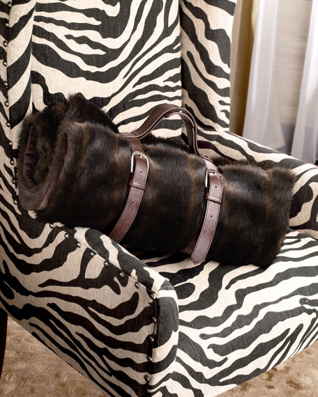 Faux-Fur Mink Travel Blanket