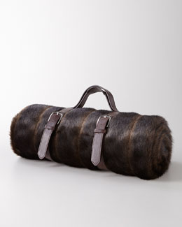NM EXCLUSIVE Faux-Fur Mink Travel Blanket