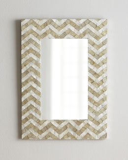 Chevron Pattern Mirror