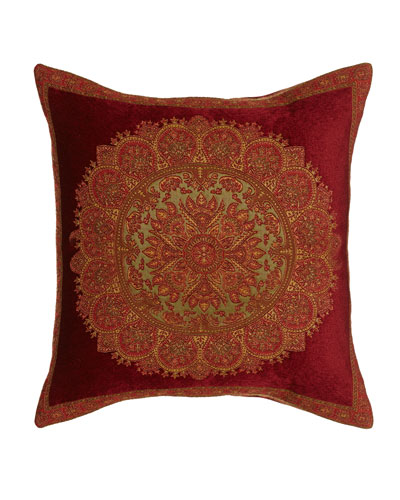 "Medallion Pillow, 24""Sq."