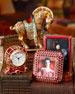 Horse Figurine, Clock, & Pagoda Box