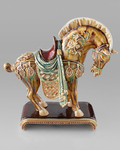 Jay Strongwater Dynasty Horse Figurine