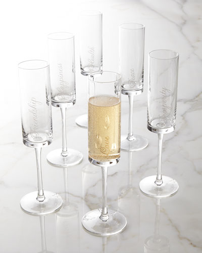NM EXCLUSIVE Six Well Wishes Flutes