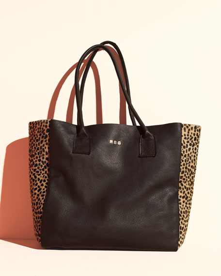 Parker Thatch Classic Leather Tote