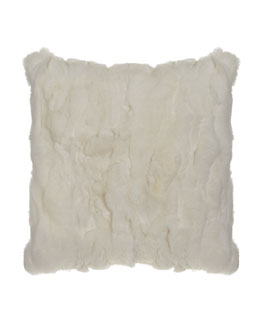 Adrienne Landau White Rex Textured PIllow